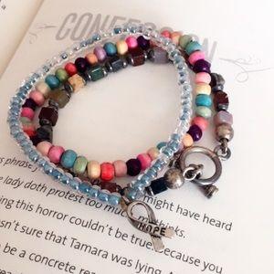 #A216 Bundle of 3 Seed Bead Bracelets